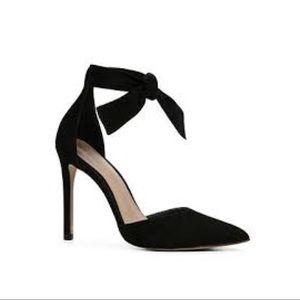 Aldo Suede Bow Tie Heels